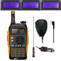 Baofeng GT-3TP MarkIII 1/4/8Watt 2m/70cm Band V/UHF Ham Two-way Radio + Speaker