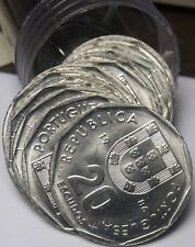 Gem Unc Roll (20) Portugal 1986-Incm 20 Escudos~1st Year Ever~Free Shipping