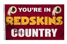 Washington Redskins 3x5 Country Design Flag [New] Nfl Banner Sign Fan Wall House