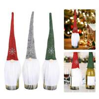 Christmas Decorations Santa Wine Bottle Cover Bag Xmas Party Table Decor Lovely