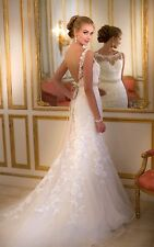 Stella York backless wedding dress size 4USA style5932 Worn once Great condition