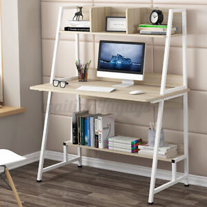 Computer Desk Bookshelf PC Workstaion Office Table Storage Cabinet Study Home UK