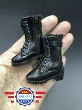 1/6 scale BLACK Zipper Short boots HOLLOW for 12'' Female Figure Body Doll