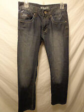 Men's Carbon Black Destroyed Jeans Sz. 28x29 Low Rise Slim Stretch