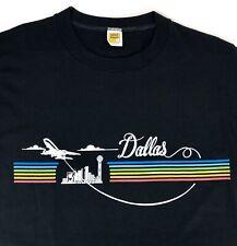 86eb60fe5 New Old Stock - Velva Sheen DALLAS T-Shirt Adult Medium Rainbow 50/50