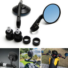 Universal 2pcs Smoke blue Anti-glare Round CNC Motorcycle Rear View Mirrors