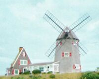Sugen Windmill in Cape Cod Massachusetts Metrochrome Vintage Postcard