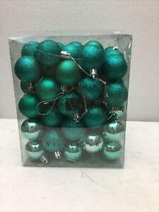 "Vickerman 1.6"" Teal-Green 4 Finish Assorted Ornaments; 96ct"