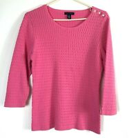 Women's Tommy Hilfiger Pink Cable Knit Sweater Size XL