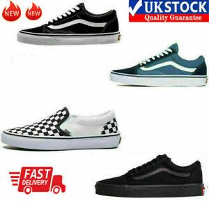 VAN Old Skool Skate Shoes All Size Classic Canvas Sport Running Sneakers UK3-10