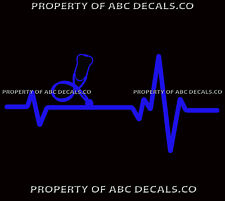 Herz Beat Line Doktor Nurse Stethoskop Scrubs Medizinisch Gerät Auto Vinyl Decal