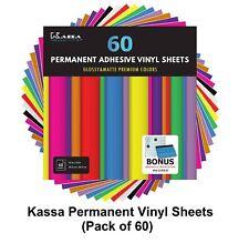 "Kassa Permanent Vinyl Sheets (pack of 60 12"" X 12"") Includes Bonus Squeegee"