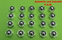 20 Abdeckkappen Radschrauben Radmutternkappen Radschraubenkappen in Chrom 17mm