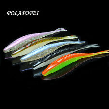 5pcs Soft Baits Artificial Loach Fishing Lures Swimbait Plastic Fish Worm
