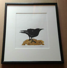 'Look Out' - Original framed Blackbird - Initialled and dated 2015.