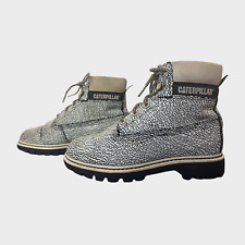 GENUINE Ladies Womens Boots Size UK 5 EU 38 White Black Leather Walking Shoes