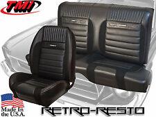 1964-66 Deluxe Pony Mustang Sport R Seat Covers and Foam (Full Set, w Foam) TMI