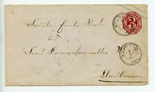 Germany Wurttemberg stationery envelope U7 used 1863 (T810)