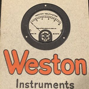 Weston Instruments For Radio Service Catalog Circular 1922