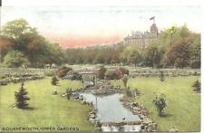 RARE COLLECTABLE LOVELY VINTAGE POSTCARD,UPPER GARDENS,BOURNEMOUTH