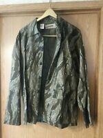 Vtg RANGER Brand Tiger Stripe Camouflage Camo Hunting coat Jacket Mens size L