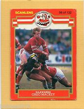 1986 SCANLENS RUGBY LEAGUE-#56-GREG MACKEY