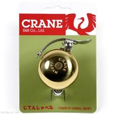 Crane Suzu Mini Brass Bicycle Bell Lever-Strike fits 22.2mm to 26mm Handlebars