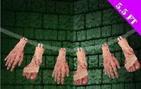 1.7M HANGING Bloody Limbs GARLAND HALLOWEEN DECORATION BLOODY PROP Hands Feet