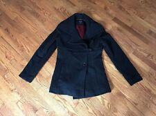DKNY Womens Black Wool Cashmere Coat Jacket - Size 2 - Lined