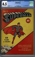 Superman #2 CGC 4.5 (OW-W) Classic Cover