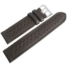 19mm Fluco Brown Racing Rallye Rally Tropic German Made Leather Watch Band Strap