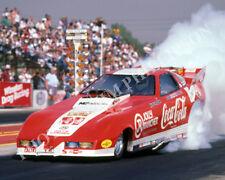 FUNNY CAR PHOTO JOHN FORCE DRAG RACING POMONA 1985 NHRA CORVETTE