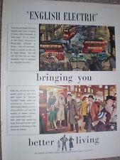 English Electric better living street art advert 1952