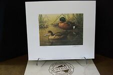 1990 Australia Duck Stamp Print artist Jim Hautman - Chestnut Teal Ducks nostmp