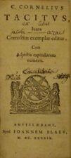 TACITE OEUVRES EN LATIN BLAEU amsterdam 1649 ABE