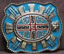 Aztec Turtle Belt Buckle