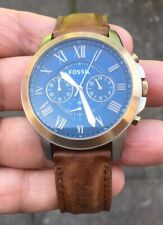 MENS  FOSSIL FS-5150  LEATHER STRAP  WATCH FULLY RUNNING VERY NICE ORDER
