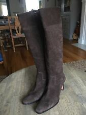 Ralph Lauren Davida Suede Knee High Fitted Leather Boots Size 10 B , Brazil