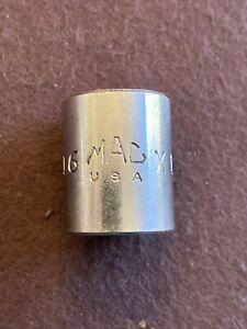 "Mac Tools USA 3/8"" Drive 9/16"" SAE 6 Point Shallow Chrome Socket X186"