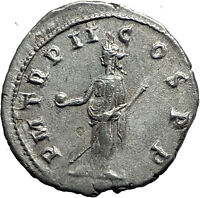 GORDIAN III 239AD Authentic Genuine Ancient Silver Roman Coin Providentia i59056