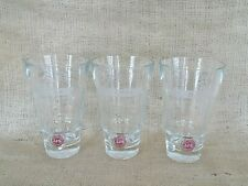 J J & S John Jameson Son Limited Red Label Irish Whiskey Cocktail Glass Lot of 3