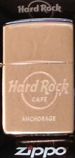 Hard Rock Cafe ANCHORAGE 2014 Silver Chrome ZIPPO Lighter New Box Sealed Sticker