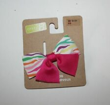 New Crazy 8 Rainbow Ribbon Bow Barrette Clip Hair Accessory NWT girls