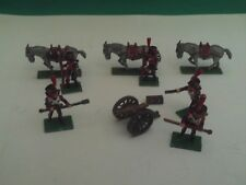 MINIFIGS 25/28mm PAINTED NAPOLEONIC FRENCH MOUNTAIN GUN,PACK MULES & 5 CREW