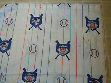 Vtg 1996 BASEBALL Leagues BED SHEET Top/Flat Twin Fabric 90s National American