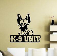 K-9 Dog Wall Decal Police German Shepherd K9 Unit Vinyl Sticker Decor Mural 40ca
