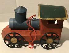 Green And Red  Tin Locomotive Train Holiday Christmas Tree Ornament