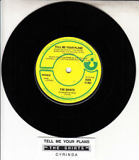 """THE SHIRTS  Tell Me Your Plans 7"""" 45 rpm vinyl record NEW + jukebox title strip"""