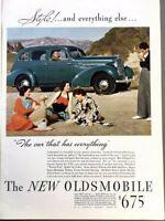 1935 Oldsmobile Sedan Vintage Advertisement Print Art Car Ad Poster LG73