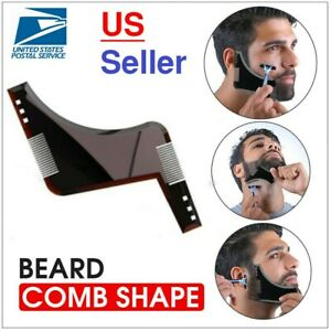 Beard Shaping Tool Template Shaper Stencil Symmetry Trimming Comb Barber